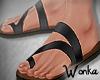 W° Noir Sandals