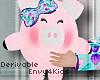 Kids Pretty Piggy Plush