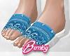 Bandana Slides Blue