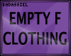 `B Empty Clothing F DRV