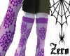 purple web stockings