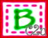 C2u letter B Sticker