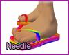Rainbow Flip Flops-M