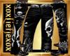 [L] Skull Silver Pants M