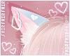 F. Neko Ears Heart Blue