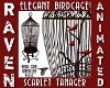 SCARLET TANAGER BIRDCAGE