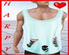 H. Teal Ripped Tank