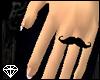 +Dainty Mustache Ring(L)