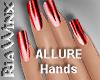 Metallic Red Nails