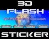 WWSC 3D Flash Sticker