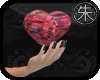 }T{ Mosaic Heart in hand