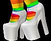 B! White heels & rainbow