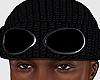 Goggle Beanie Black