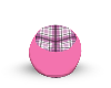 Pink Plaid Beanbag
