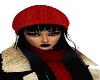 Onyx L w/Red Knit Hat