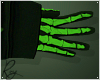 Green Skelly Gloves
