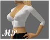 MP White Cropped Sweater