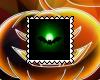 Neon Green Bat Stamp