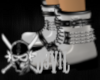 chained white boots