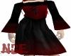 Black Red Corset Dress