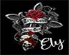 Boob Cross roses Tattoo