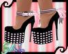 Pink/Black Bow Heels