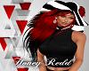 Stripe Hat w/ Black Redd