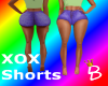 (DD) XOX SHORTS PURPLE