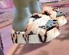 LV Fur Slides