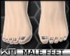+KM+ Male Feet Silver