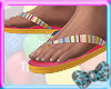 x!Striped FlipFlops M
