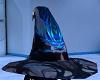 Dark BlueFlame WizardHat