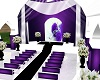 purple  /white  wedding