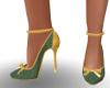 Faya Green Heels