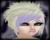 Blonde/Purple Bangs