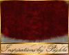 I~Rouge Red Oval Fur Rug