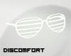 *D lined glasses WHITE