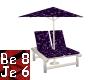 Purple/Blk Chaise Lounge