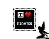 Stamp - Pirate Love