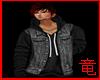 [竜]Black jacket hoodie