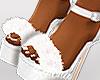 ṩFur Heels White