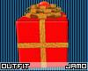 Christmas Gift Box With Glitter Ribbon