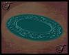 Teal Oval Rug