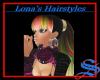 Long Rainbow hair.