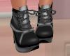 Silver Black Lolita Boot