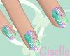 Giselles Pastel Art Nail