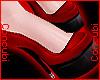 ♂ Latex Heels |Red/Blk