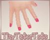 Kids Hot Pink Nails