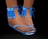 FG~ Blue Fringe Sandals