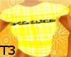 !T3! plaid yellow shirt
